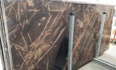 Fornitura lastre lucide 2 cm in calcare naturale BRONZO VENATO 1529M. Dettaglio immagine fotografie