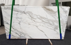 Fornitura lastre lucide 2 cm in marmo naturale CALACATTA BORGHINI 1209. Dettaglio immagine fotografie