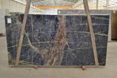 Fornitura lastre grezze lucide 3 cm in granito naturale AFRICAN LAPIS LAZULI #BQ02285. Dettaglio immagine fotografie
