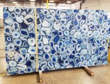 Fornitura lastre grezze lucide 5.1 cm in pietra semipreziosa naturale AGATA BLUE AG-BL18. Dettaglio immagine fotografie