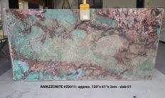Fornitura lastre grezze lucide 2 cm in pietra semipreziosa naturale AMAZZONITE Z0011. Dettaglio immagine fotografie