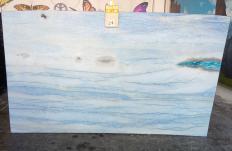 Fornitura lastre grezze lucide 2 cm in marmo naturale AZUL MAKAUBA Z0191. Dettaglio immagine fotografie