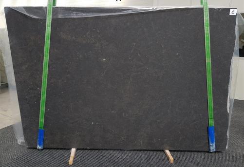 Fornitura lastre grezze levigate 3 cm in calcare naturale BELGIAN BLUE LIMESTONE 1080. Dettaglio immagine fotografie