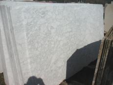 Fornitura lastre grezze levigate 2 cm in marmo naturale BIANCO BROUILLE' EM_0492B. Dettaglio immagine fotografie