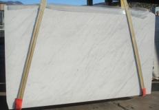 Fornitura lastre levigate 3 cm in marmo naturale BIANCO CARRARA C 2273. Dettaglio immagine fotografie