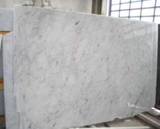 Fornitura lastre grezze lucide 2 cm in marmo naturale BIANCO CARRARA CD E-BCCD1032. Dettaglio immagine fotografie