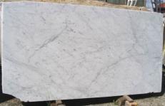 Fornitura lastre grezze lucide 2 cm in marmo naturale BIANCO CARRARA CD EDM25106. Dettaglio immagine fotografie