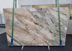 Fornitura lastre grezze lucide 2 cm in breccia naturale BRECCIA AURORA GL 1057. Dettaglio immagine fotografie