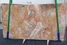 Fornitura lastre grezze lucide 2 cm in breccia naturale BRECCIA TOSCANA 1233. Dettaglio immagine fotografie