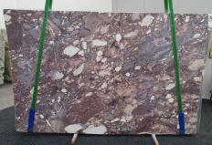 Fornitura lastre grezze lucide 2 cm in breccia naturale BRECCIA VIOLA 1289. Dettaglio immagine fotografie