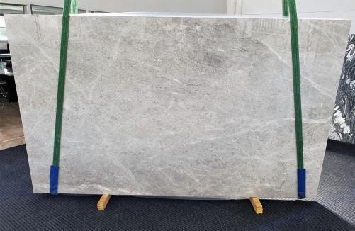 Fornitura lastre grezze lucide 3 cm in marmo naturale BRILLANT GREY 1410. Dettaglio immagine fotografie