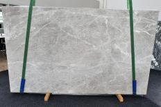 Fornitura lastre grezze levigate 2 cm in marmo naturale BRILLANT GREY 1410. Dettaglio immagine fotografie