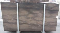 Fornitura lastre grezze levigate 2 cm in calcare naturale CAESER BROWN 0273M. Dettaglio immagine fotografie