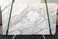 Fornitura lastre grezze levigate 2 cm in marmo naturale CALACATTA BELGIA 1146. Dettaglio immagine fotografie