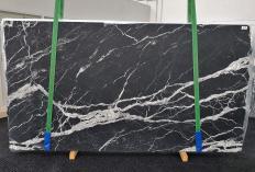 Fornitura lastre grezze levigate 2 cm in marmo naturale CALACATTA BLACK 1459. Dettaglio immagine fotografie