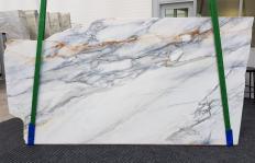 Fornitura lastre grezze lucide 2 cm in marmo naturale CALACATTA BORGHINI 1209. Dettaglio immagine fotografie