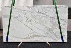 Fornitura lastre grezze lucide 2 cm in marmo naturale CALACATTA BORGHINI GL 1095. Dettaglio immagine fotografie