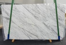 Fornitura lastre grezze levigate 3 cm in marmo naturale CALACATTA CARRARA #1370. Dettaglio immagine fotografie