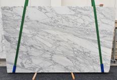 Fornitura lastre grezze lucide 3 cm in marmo naturale CALACATTA CARRARA 1421. Dettaglio immagine fotografie