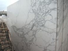 Fornitura lastre grezze lucide 2 cm in marmo naturale CALACATTA CARRARA E-O448. Dettaglio immagine fotografie