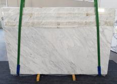 Fornitura lastre grezze lucide 2 cm in marmo naturale CALACATTA CREMO 1263. Dettaglio immagine fotografie