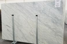 Fornitura lastre grezze lucide 2 cm in marmo naturale CALACATTA CREMO 1275. Dettaglio immagine fotografie