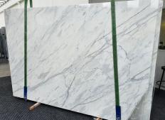 Fornitura lastre grezze lucide 2 cm in marmo naturale CALACATTA CREMO 1403. Dettaglio immagine fotografie