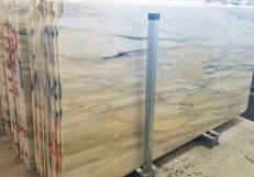 Fornitura lastre grezze lucide 2 cm in marmo naturale CALACATTA CREMO AA T0191. Dettaglio immagine fotografie