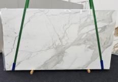 Fornitura lastre grezze lucide 2 cm in marmo naturale CALACATTA EXTRA 1366. Dettaglio immagine fotografie