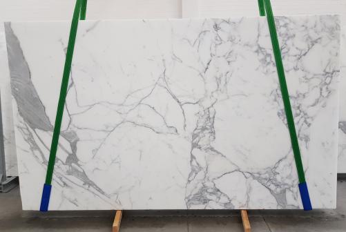 Fornitura lastre grezze levigate 2 cm in marmo naturale CALACATTA EXTRA 1145. Dettaglio immagine fotografie