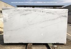 Fornitura lastre grezze lucide 2 cm in marmo naturale CALACATTA LINCOLN 1408M. Dettaglio immagine fotografie