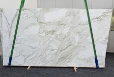 Fornitura lastre grezze lucide 2 cm in marmo naturale CALACATTA MACCHIA ANTICA 1389. Dettaglio immagine fotografie