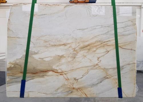 Fornitura lastre grezze lucide 2 cm in marmo naturale CALACATTA MACCHIAVECCHIA 1231. Dettaglio immagine fotografie