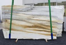 Fornitura lastre grezze lucide 2 cm in marmo naturale CALACATTA MAJESTIC 1343. Dettaglio immagine fotografie