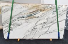 Fornitura lastre grezze lucide 2 cm in marmo naturale CALACATTA MAJESTIC 1413. Dettaglio immagine fotografie