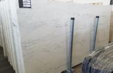 Fornitura lastre grezze lucide 2 cm in marmo naturale CALACATTA MICHELANGELO AA T0269. Dettaglio immagine fotografie