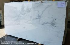 Fornitura lastre grezze lucide 2 cm in marmo naturale CALACATTA MICHELANGELO AA T0165. Dettaglio immagine fotografie