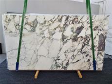 Fornitura lastre grezze lucide 2 cm in marmo naturale CALACATTA MONET 1312. Dettaglio immagine fotografie