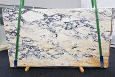 Fornitura lastre grezze lucide 2 cm in marmo naturale CALACATTA MONET 1371. Dettaglio immagine fotografie