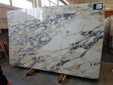 Fornitura lastre grezze lucide 2 cm in marmo naturale CALACATTA MONET Z0158. Dettaglio immagine fotografie