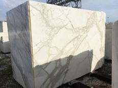 Fornitura blocchi grezzi 177 cm in marmo naturale CALACATTA ORO EXTRA 2628. Dettaglio immagine fotografie