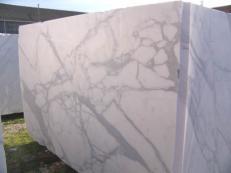 Fornitura blocchi grezzi 100 cm in marmo naturale CALACATTA ORO EXTRA C-PR2003. Dettaglio immagine fotografie
