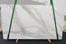 Fornitura lastre grezze lucide 2 cm in marmo naturale CALACATTA ORO EXTRA 1366. Dettaglio immagine fotografie