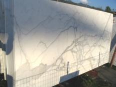 Fornitura lastre grezze lucide 2 cm in marmo naturale CALACATTA ORO EXTRA C-0412. Dettaglio immagine fotografie