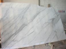 Fornitura lastre grezze lucide 2 cm in marmo naturale CALACATTA ORO EXTRA EM_0412. Dettaglio immagine fotografie