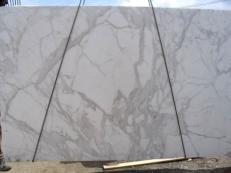 Fornitura lastre grezze lucide 3 cm in marmo naturale CALACATTA ORO EXTRA E-8001. Dettaglio immagine fotografie
