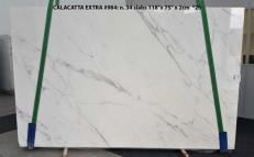 Fornitura lastre grezze lucide 2 cm in marmo naturale CALACATTA ORO EXTRA GL 984. Dettaglio immagine fotografie