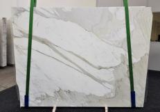 Fornitura lastre grezze lucide 2 cm in marmo naturale CALACATTA ORO EXTRA GL 1090. Dettaglio immagine fotografie