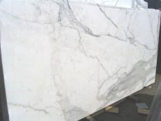 Fornitura lastre lucide 2 cm in marmo naturale CALACATTA ORO EXTRA E-25104. Dettaglio immagine fotografie