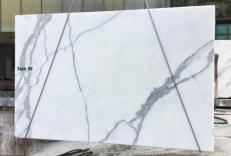 Fornitura lastre lucide 2 cm in marmo naturale CALACATTA ORO EXTRA GL D190223. Dettaglio immagine fotografie